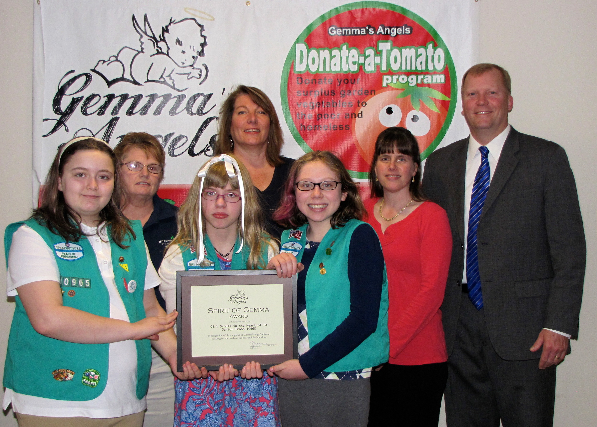 Copy of Award Recipients Girl Scout Troop 10965