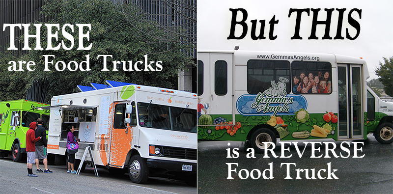 The vehicle above is an artist's rendering of our Mobile Farmer's Market/All-Kids Mobile Farmer's Market