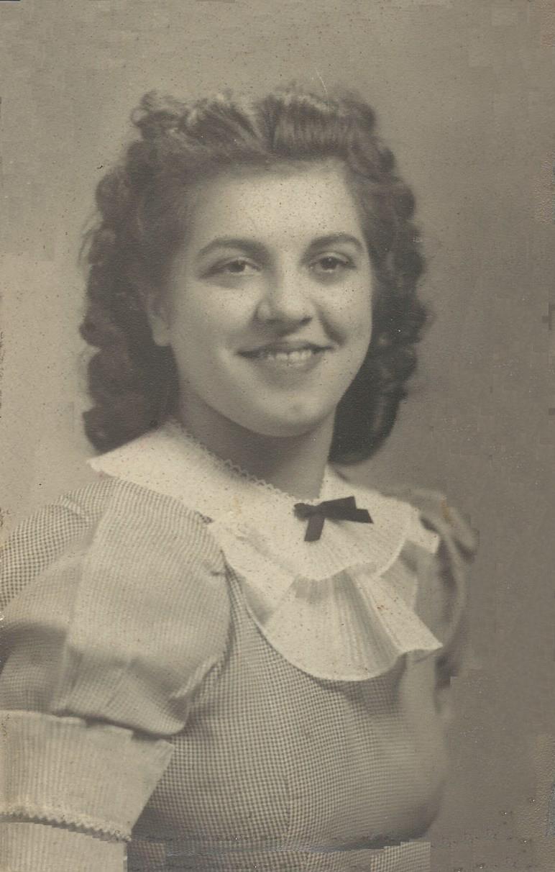 Gemma at high school graduation, 1940