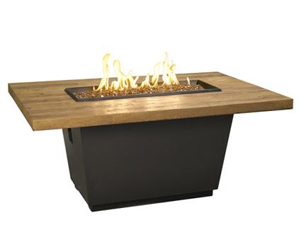 "54"" rectangle french barrel oak table"