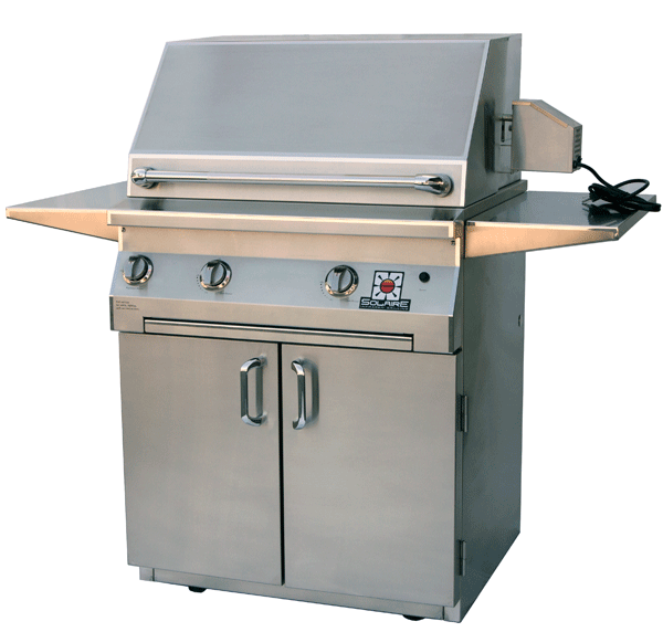 """solaire 30"""" infrared cabinet cart grill"""