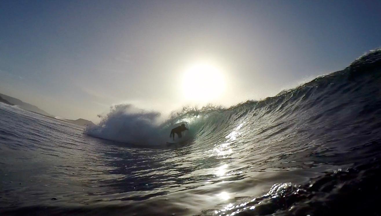 The waves we scored on arrival the La Graciosa, Canary Islands