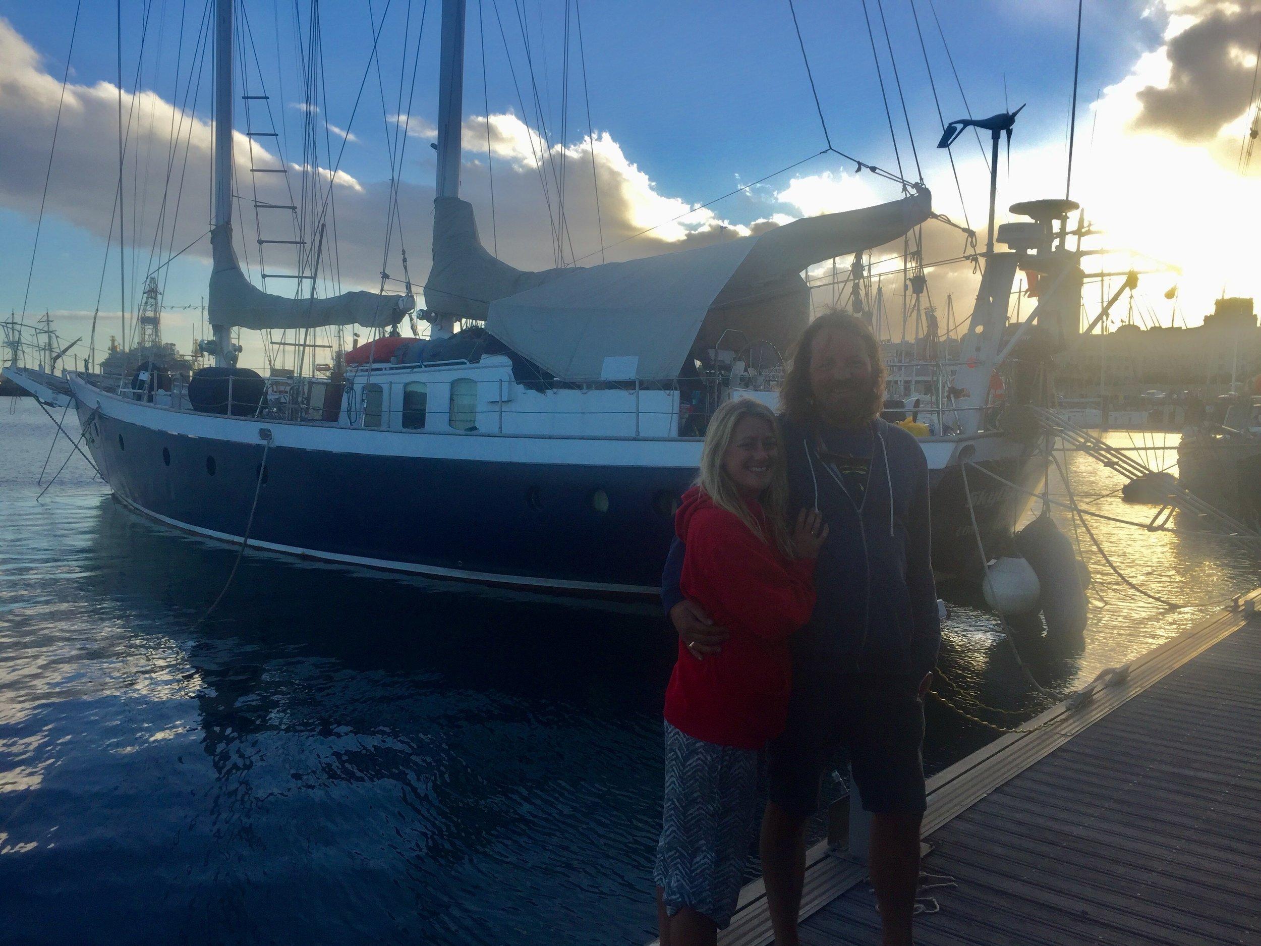 Meet Nick and Estella, hands down, the best crew we've met all trip.