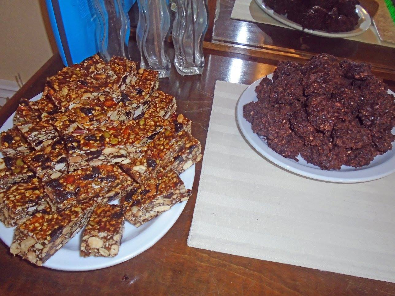 Some of the unbelievably tasty treats from the anniversary party ...