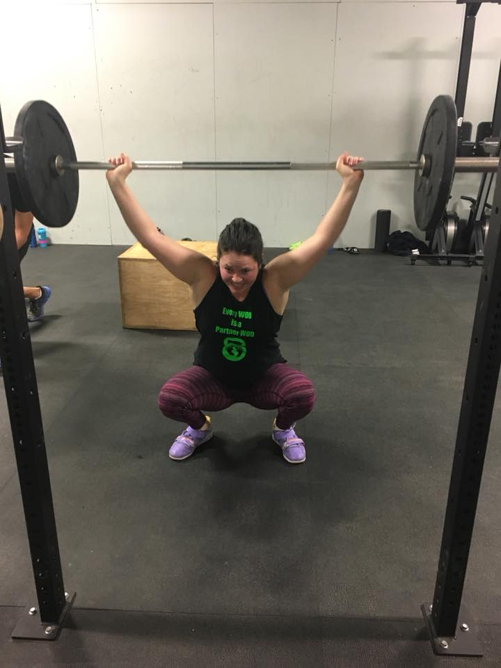 Be a healthy role model, the young ones are watching ... and squatting lower ...