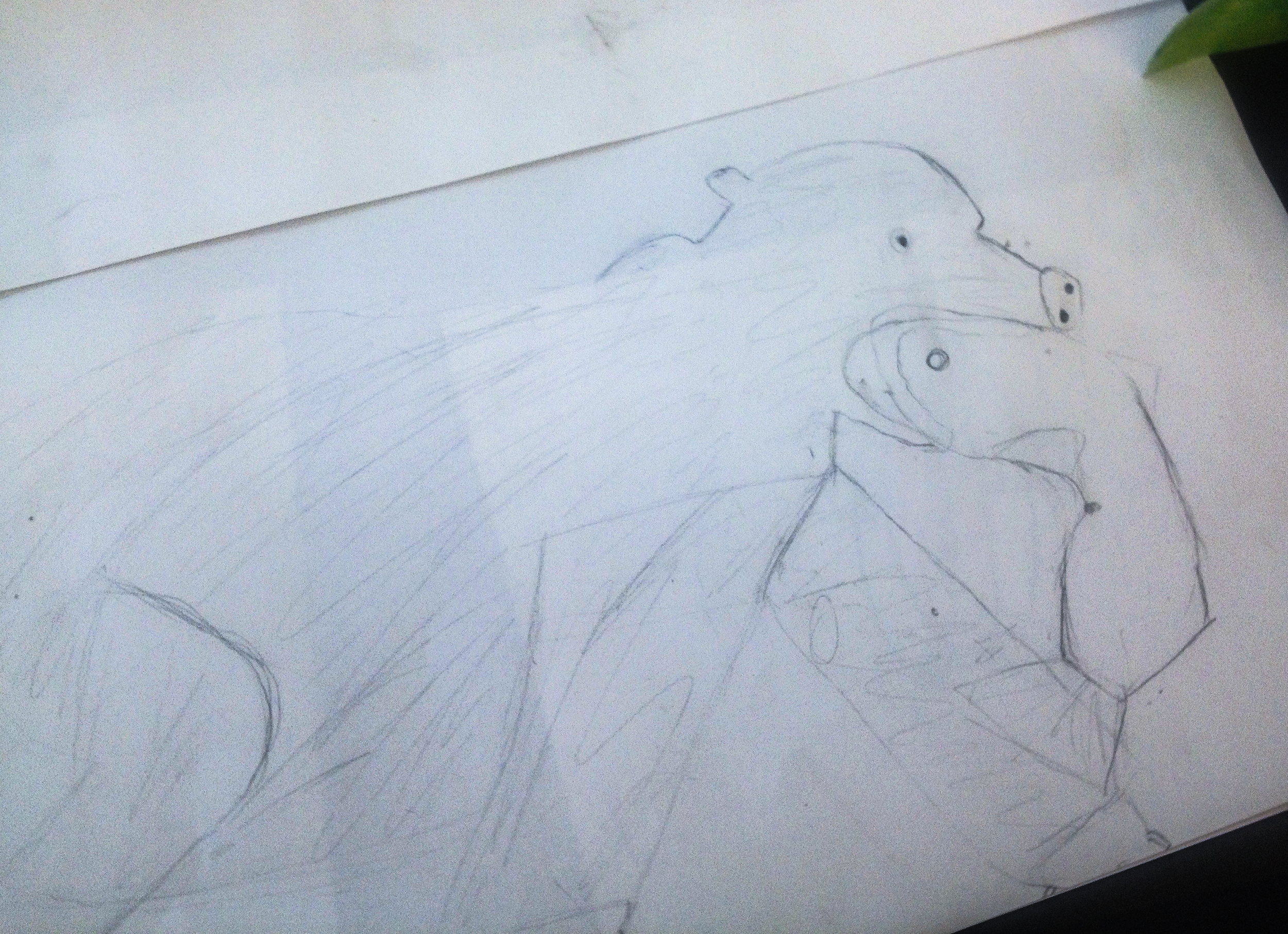 study for grizzly with fish