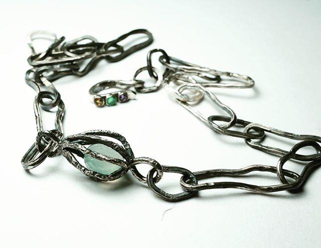 #oxidisedjewellery #bespokenecklace #urban #amethyst #emerald #citrine #oneofakind #specialcommission