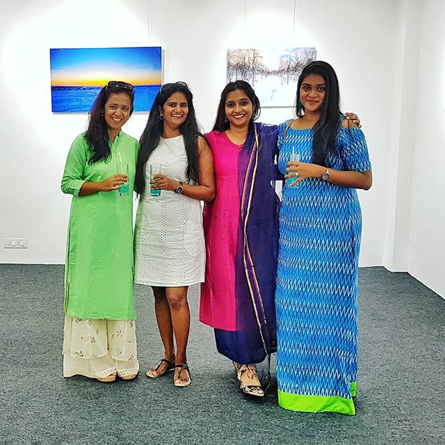 Radhika, Mel, Nisha and Maanasa at my Exhibit