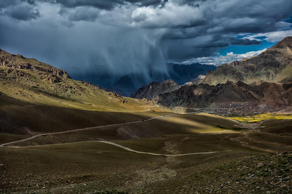 Cloud Burst Near Kargil  Canon 5DS-R, 17-40mm f4L, 1/400 sec @ f8 ISO 100
