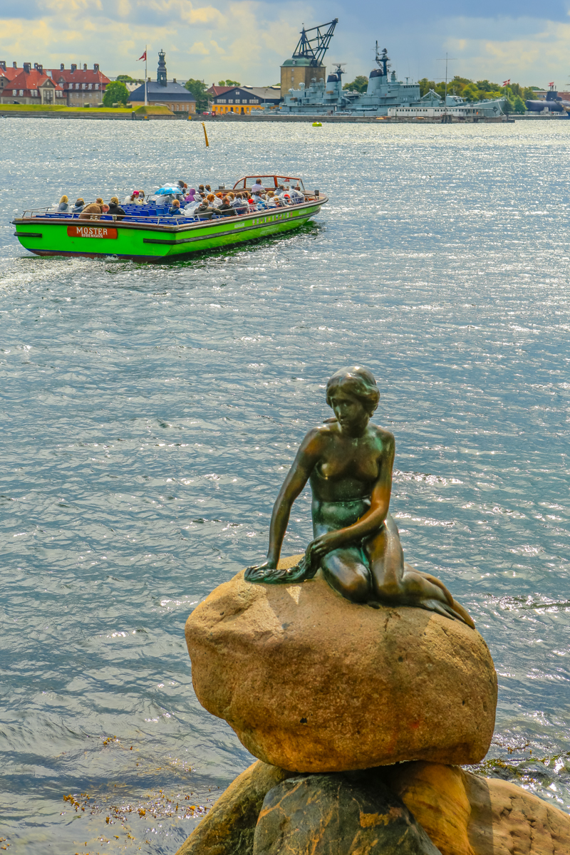 The Little Mermaid is a bronze statue by Edvard Eriksen, depicting a mermaid becoming human.