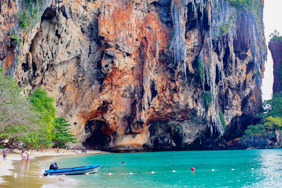 Sandstone Cliffs and Cave at Krabi
