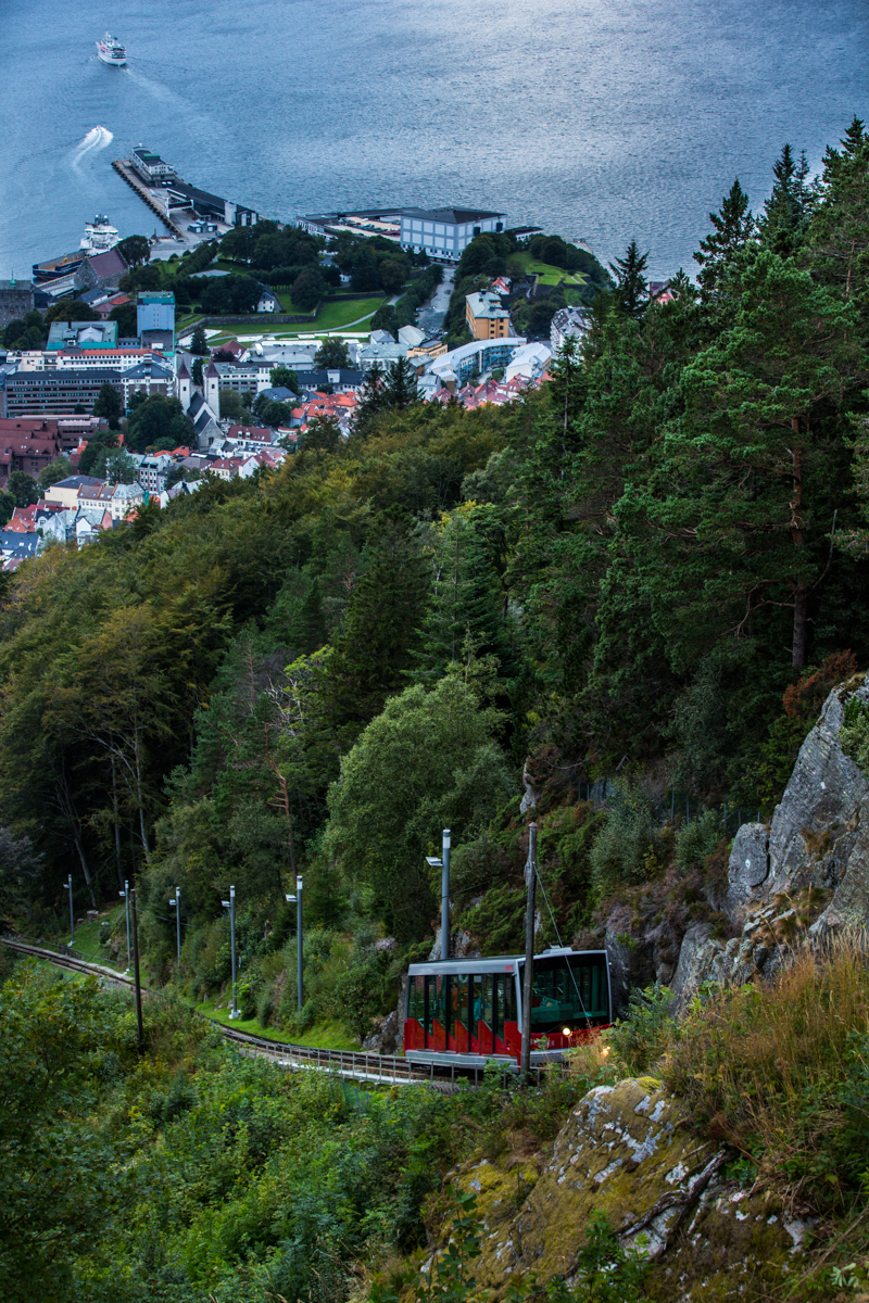 Funicular up to Mt Floyen