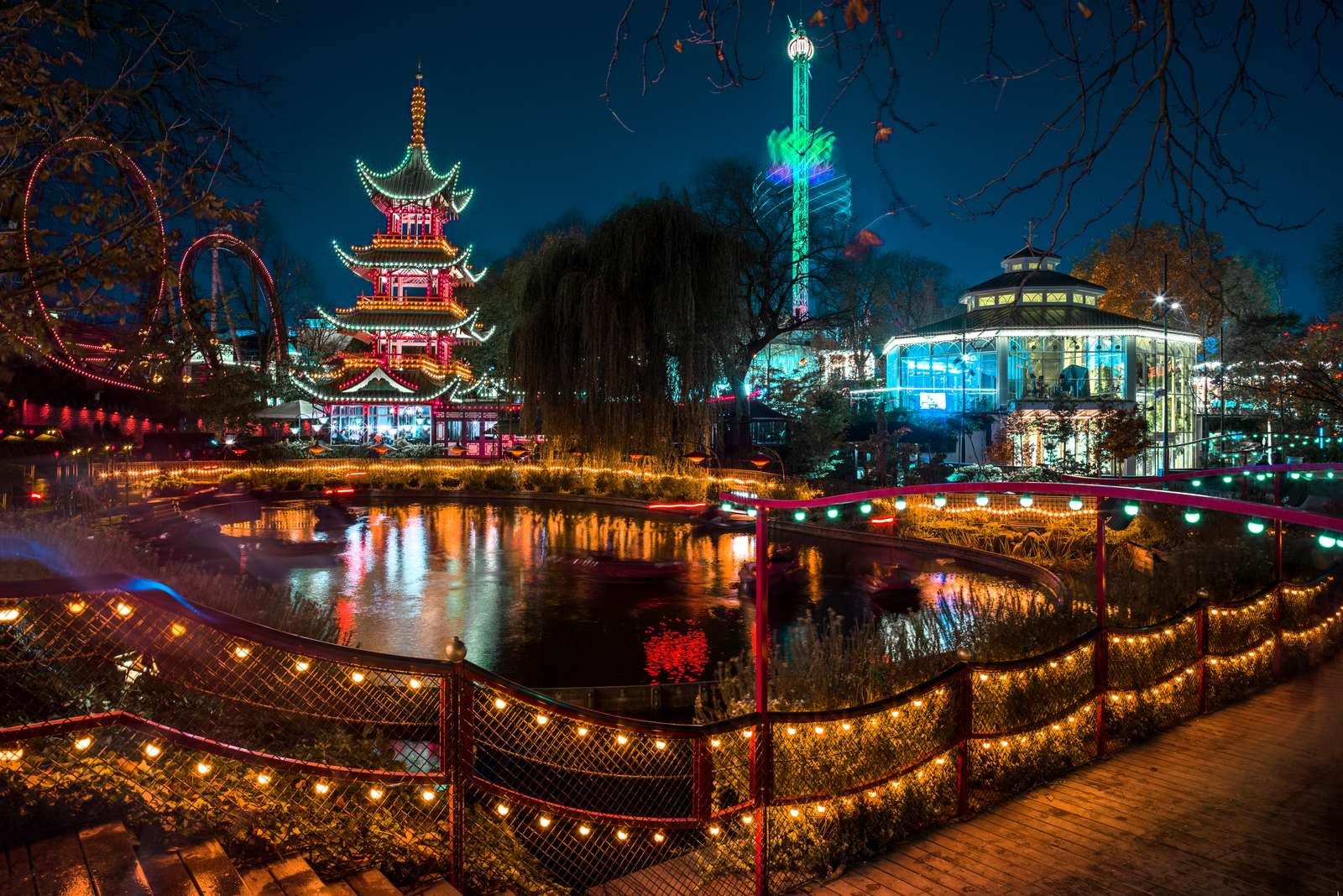 Tivoli Gardens at Night Image Courtesy : Copenhagen Media Center Photo By : Eleonora Costi