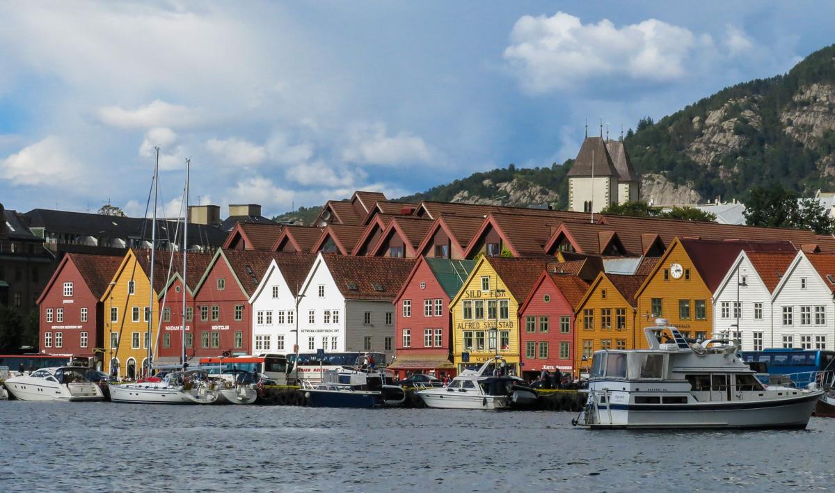 Bryggen Waterfront Area