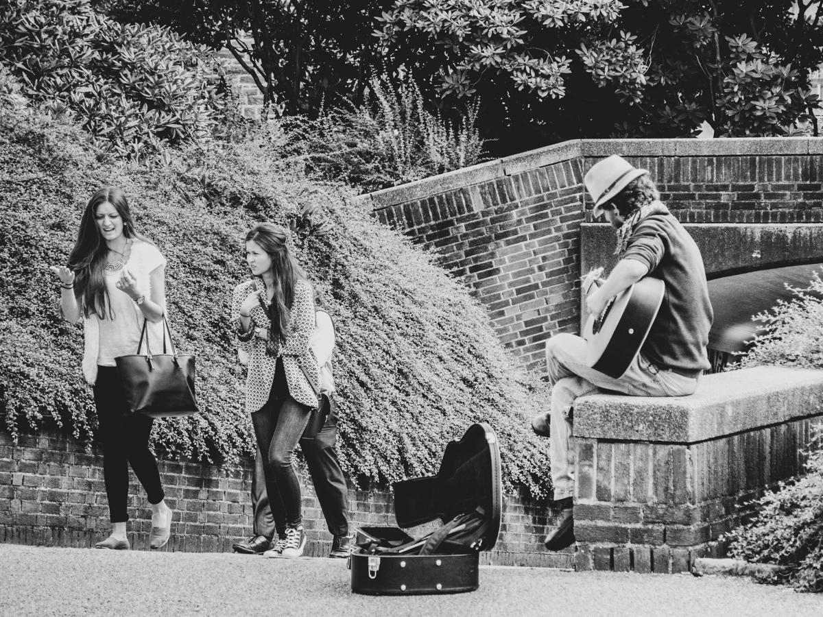 Street Musician at Lille Lungegårdsvannet , Bergen