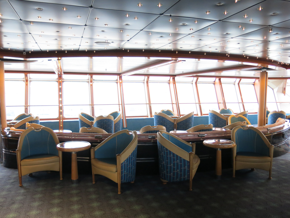 lounge area on the ship