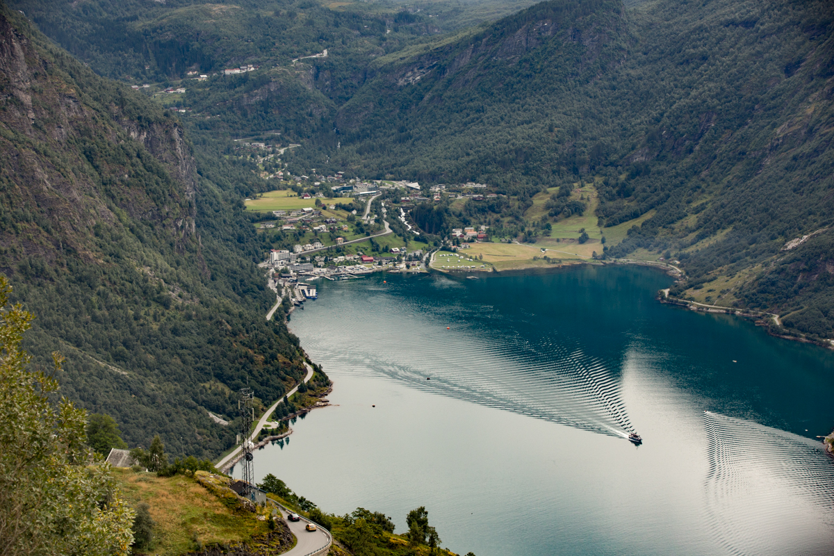 View of Hardengerfjord from a view point.