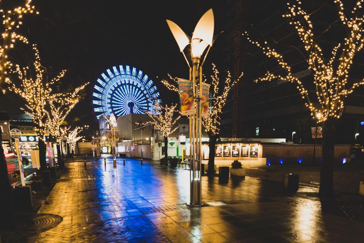 Night Scene at Kobe