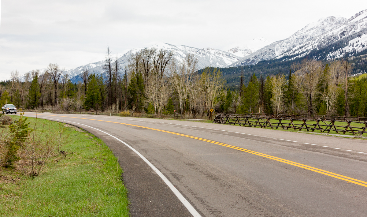 Grand Tetons National Park Road