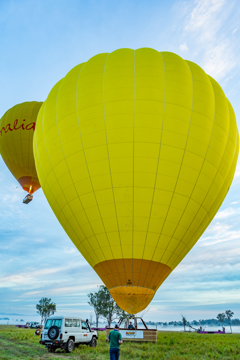 Hot Air Ballon ready for passengers