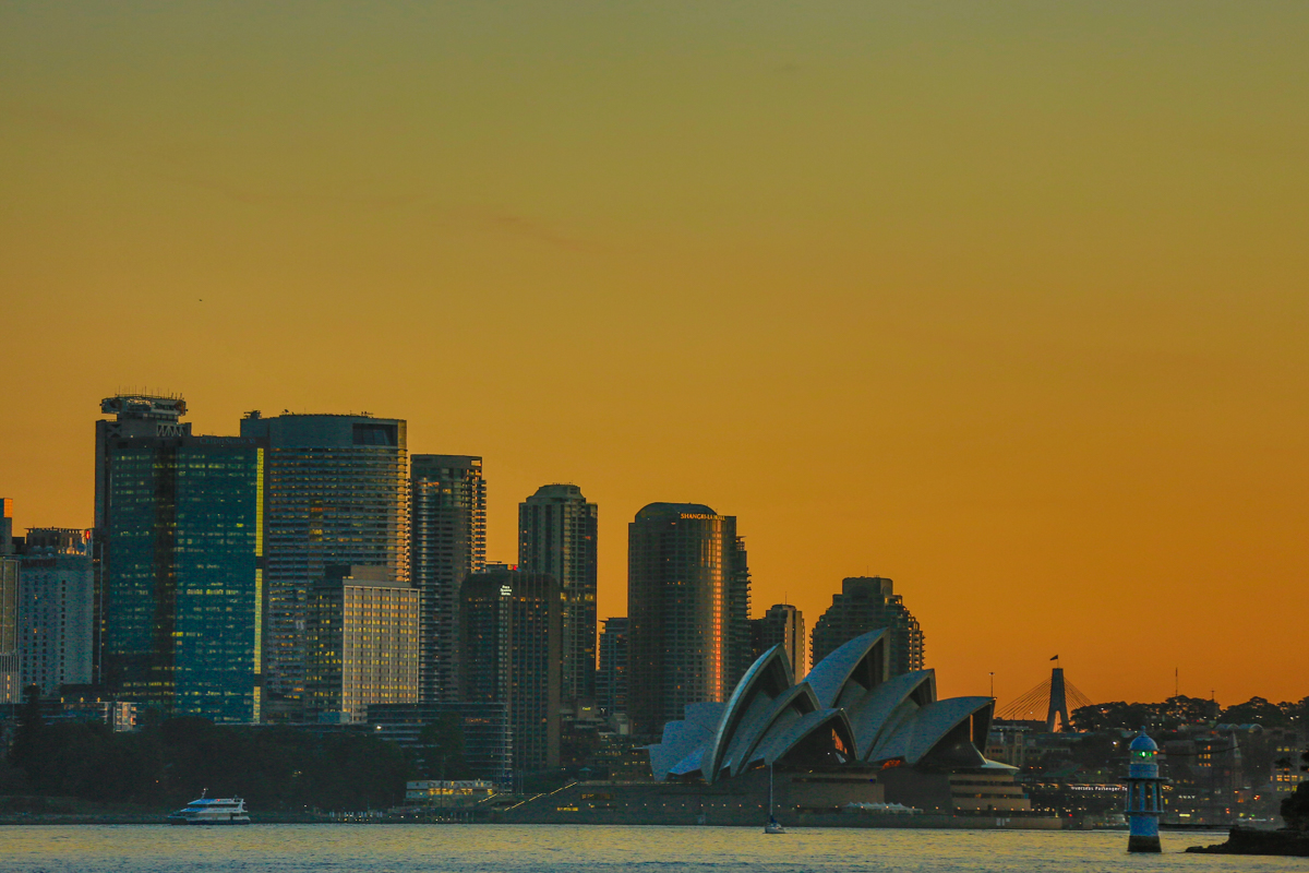 Sunset View of Sydney Skyline