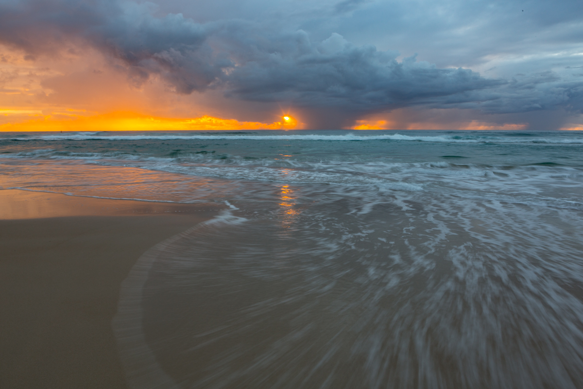 Sunrise and Receding Storm, Gold Coast