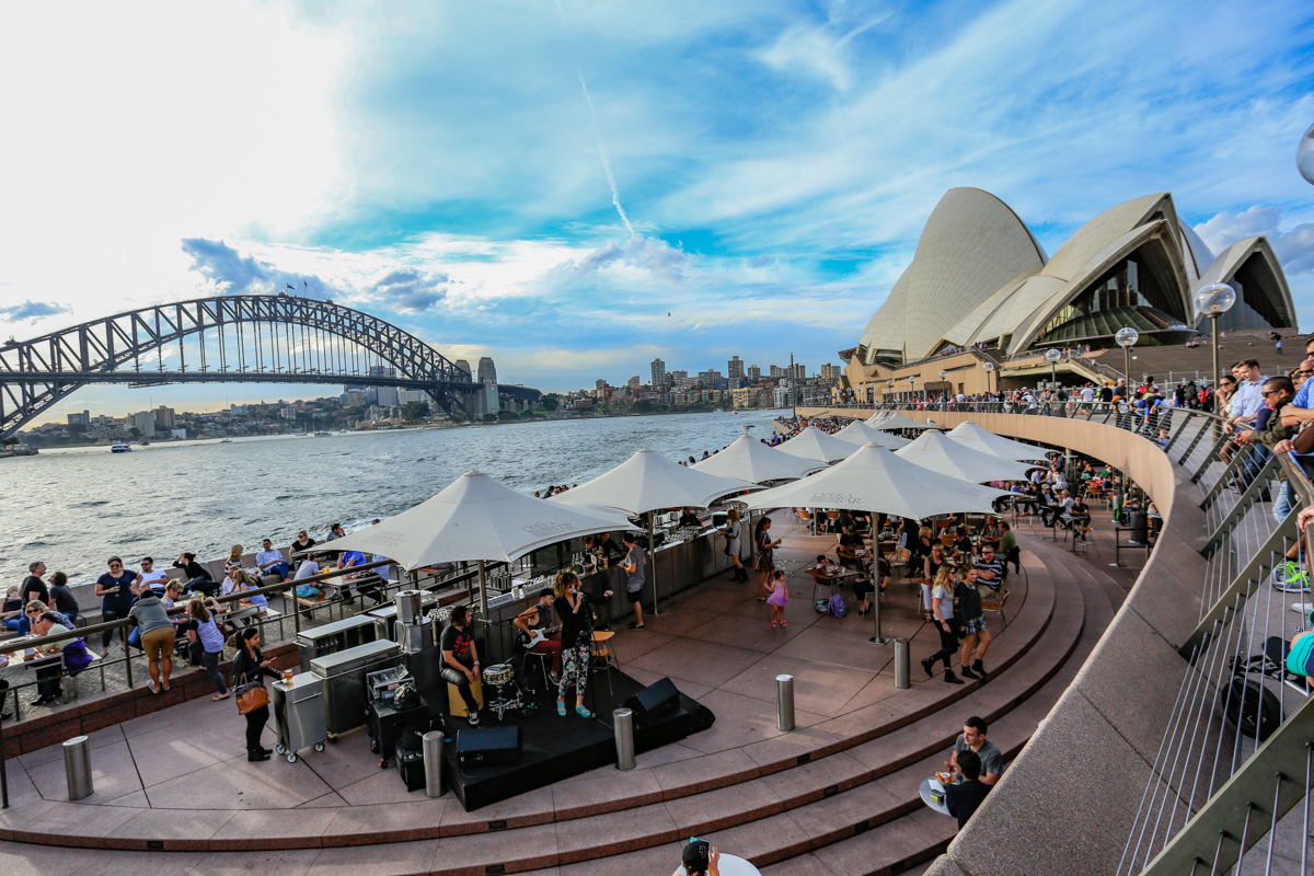 Concert in Progress near Opera house at Sydney Harbour