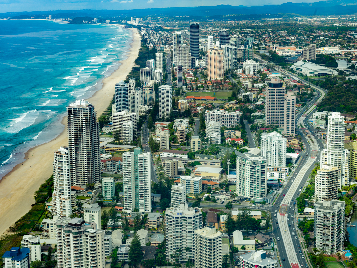 Beautiful View of Gold Coast from SkyPoint Observatory