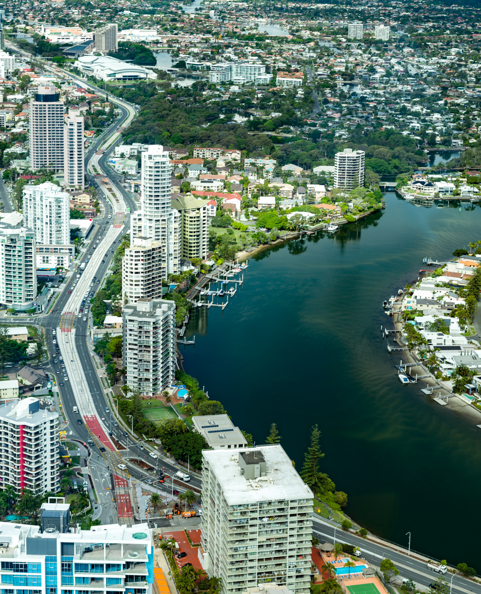 View of Gold Coast Town from SkyPoint