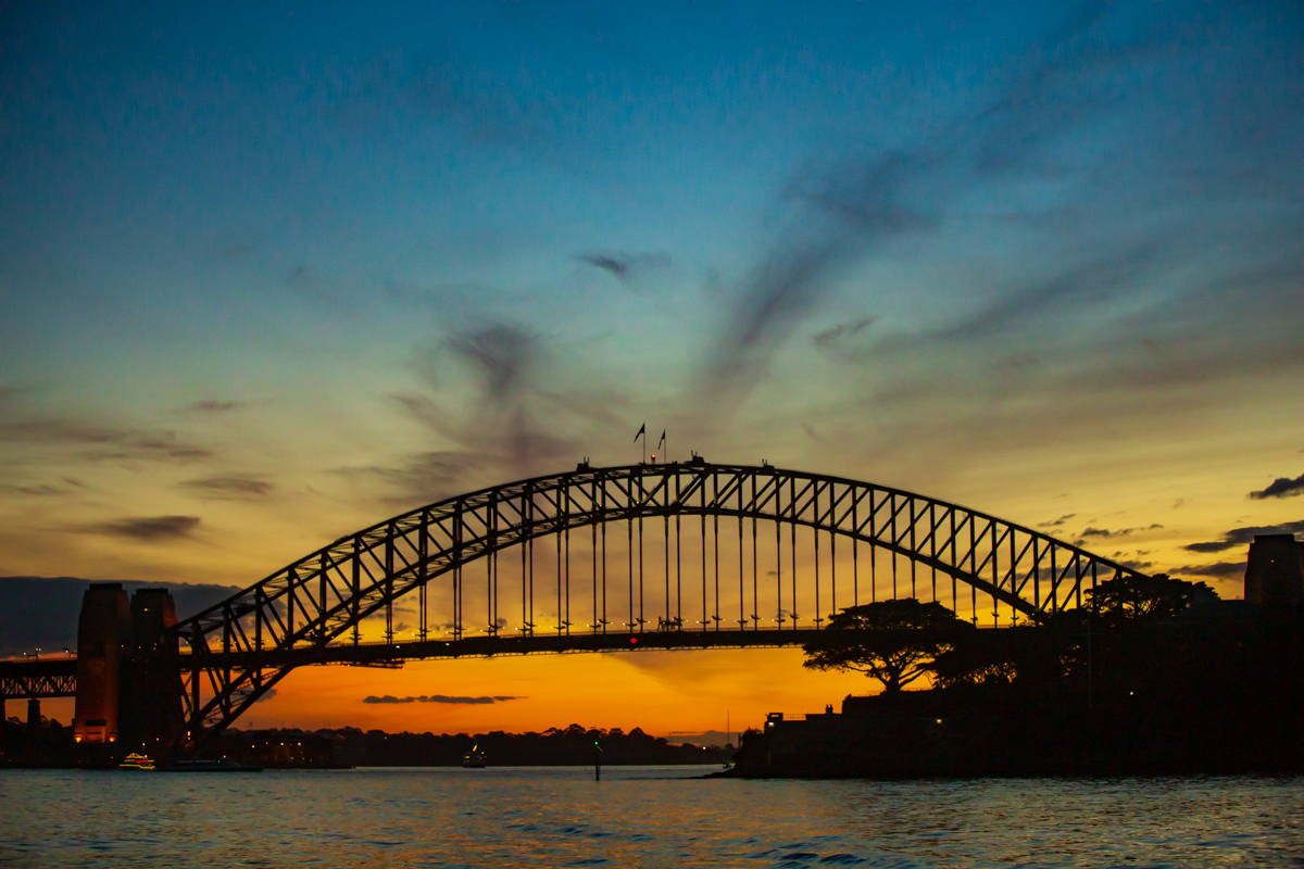 Harbour Bridge at Sunset, Sydney