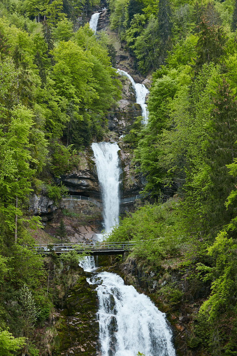 Giessbachfälle, Waterfall can be accessed from the car park of the Grand Hotel Giessbach