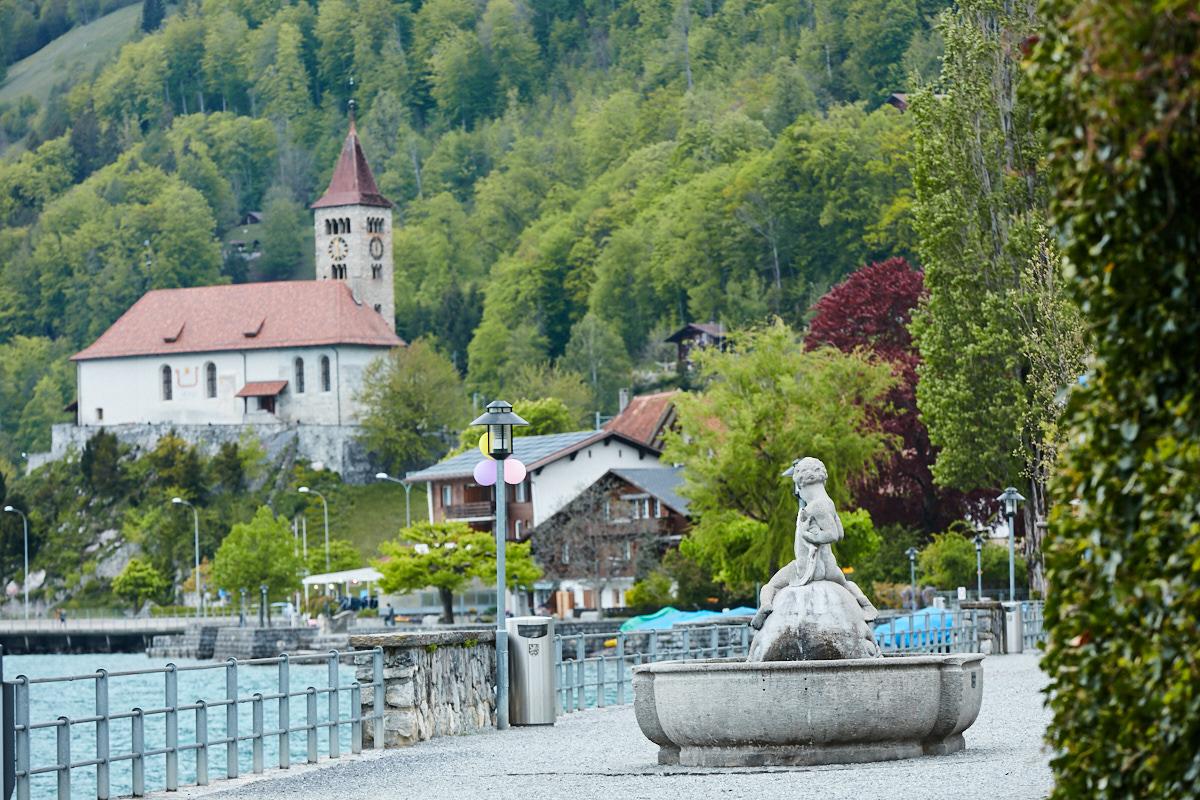 Promenade at a Village along the Brienz