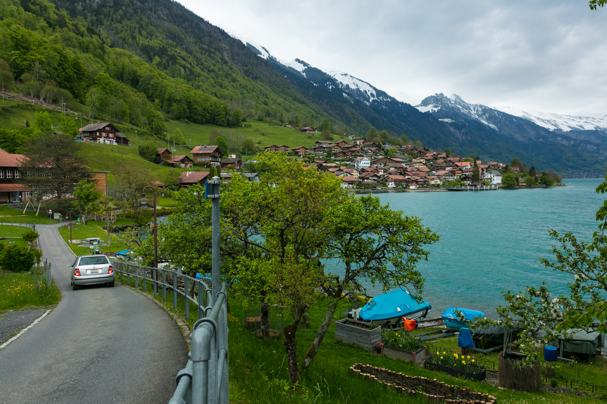 At one the beautiful villages lining the shores of Lake Brienz