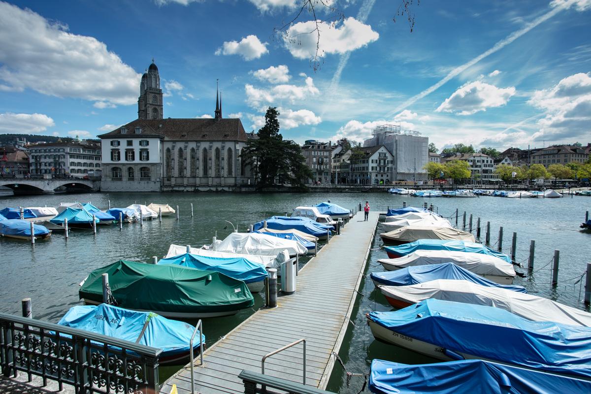 Pier at Zurich Old Town
