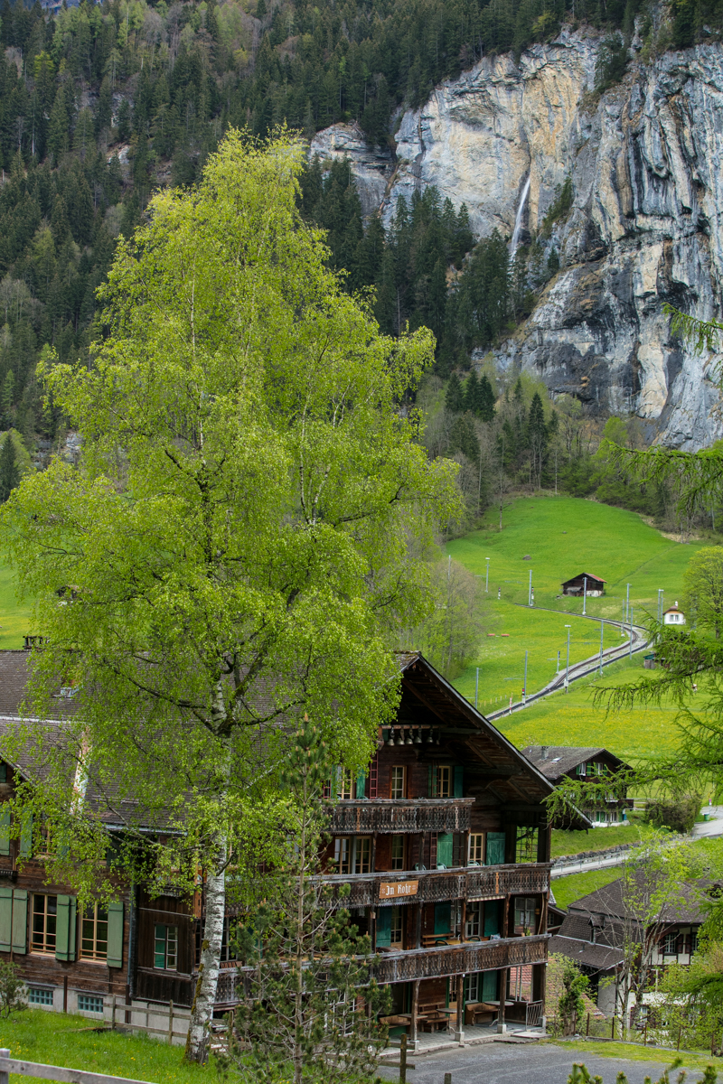 Idyllic Village Scene, Lauterbrunnen
