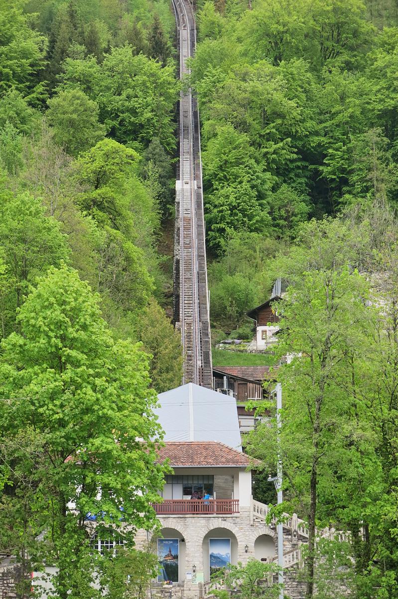 Funicular to Harder Kulm, Interlaken