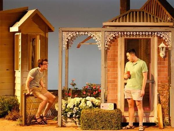 Image: Harry Tseng and Nicholas Denton in the MTC's  Jasper Jones.  Image by Jeff Busby.