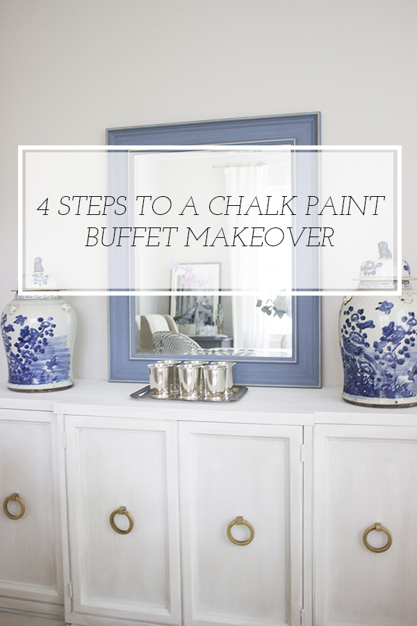buffet makeover with chalk paint