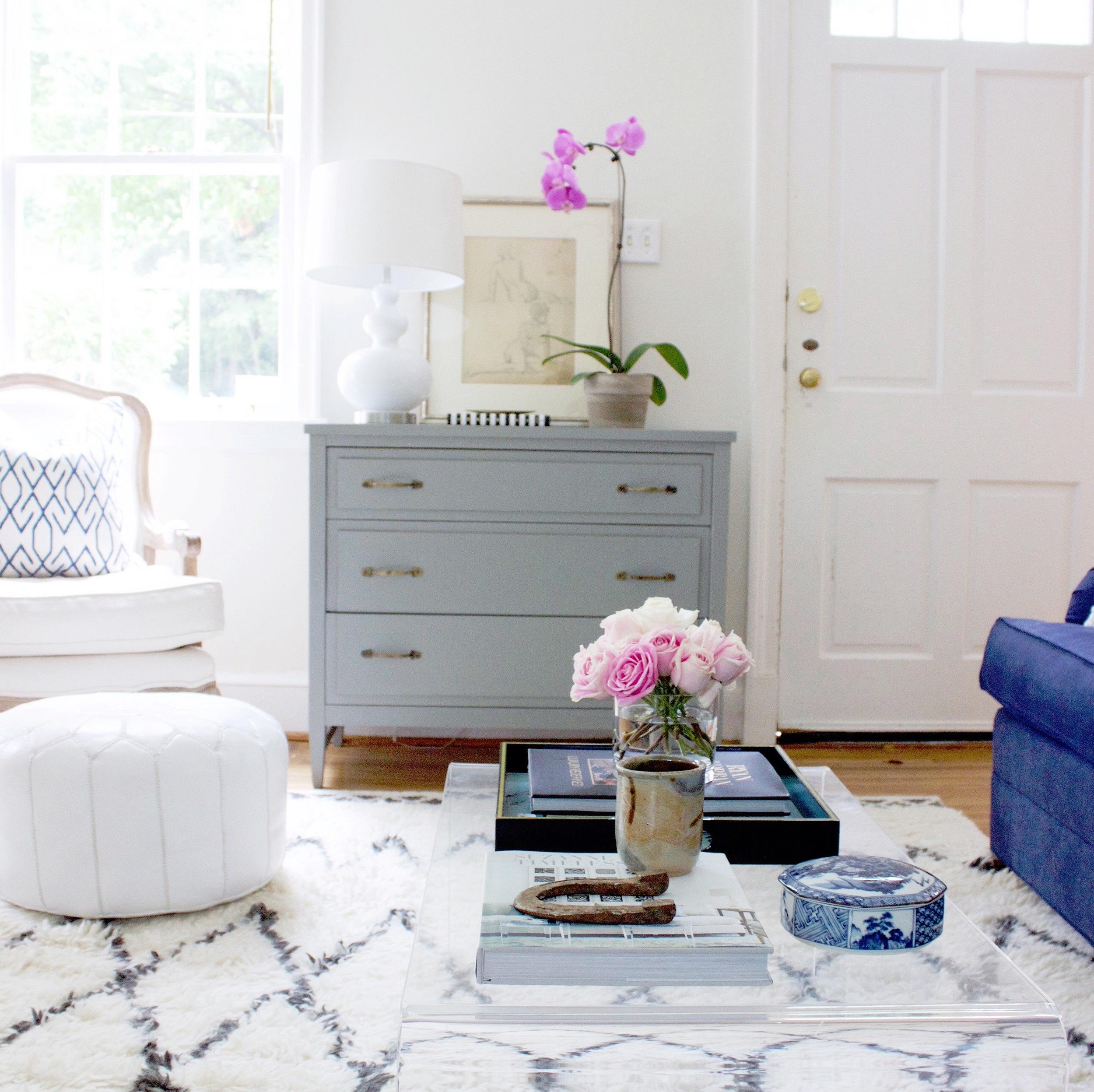 blue door living living room
