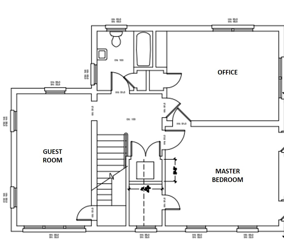 existing second floor floor plan