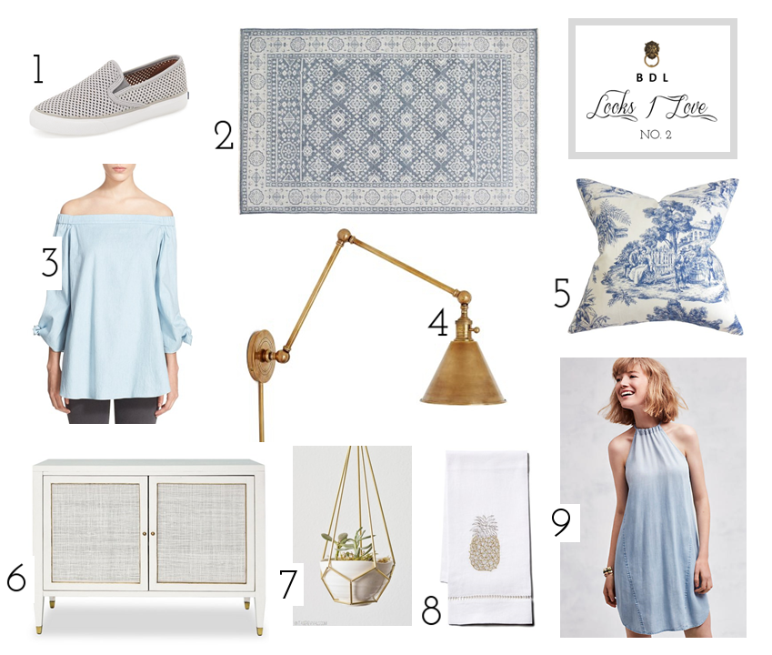 Looks I love - Powder Blue and Brass