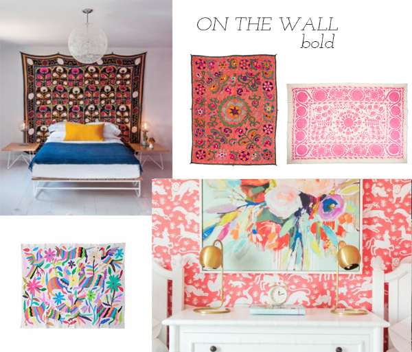 suzanis and otomis as wall decor bold