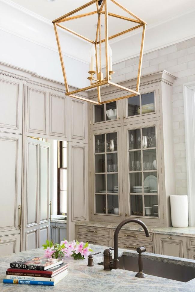 statement chandelier gold