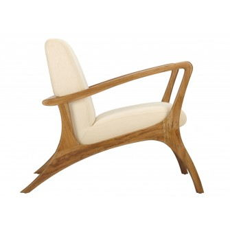 VENTURI LOUNGE CHAIR, NEUTRAL - Sold By Lulu & Georgia