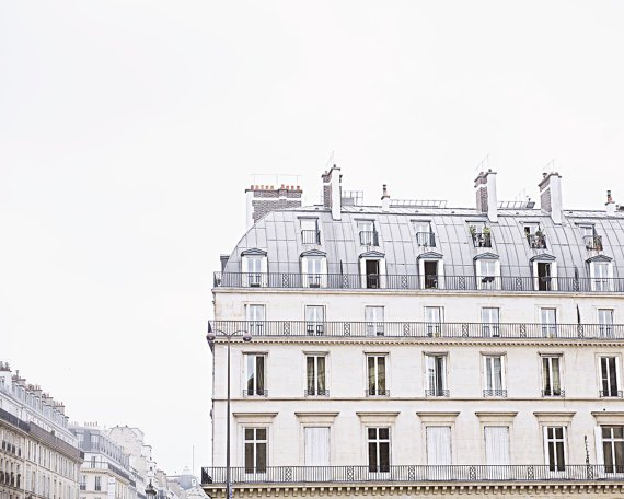paris buildings - sold by Blue Door Living
