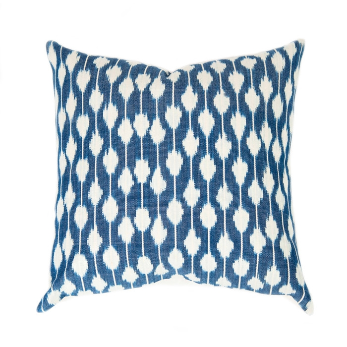 indigo DOT PILLOW - sold by Blue Door Living