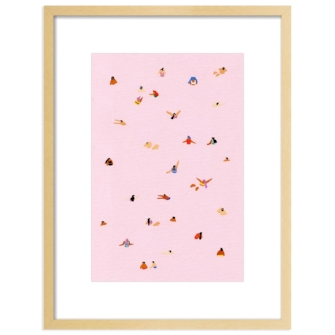 PINK! BY JOANNE HO FRAMED PRINT FOR ARTFULLY WALLS - sold by Furbish Studio