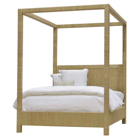 natural seagrass canopy bed - Sold By Kathy Kuo Home