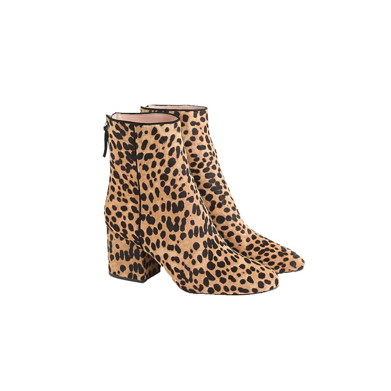 Sadie Ankle Boots, Leopard - J.CREW