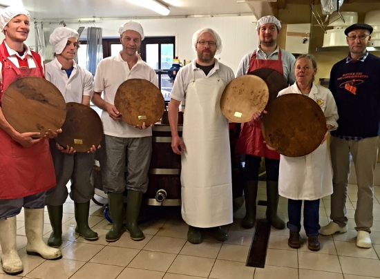 Our team with all six 'best welsh cheese' trophies